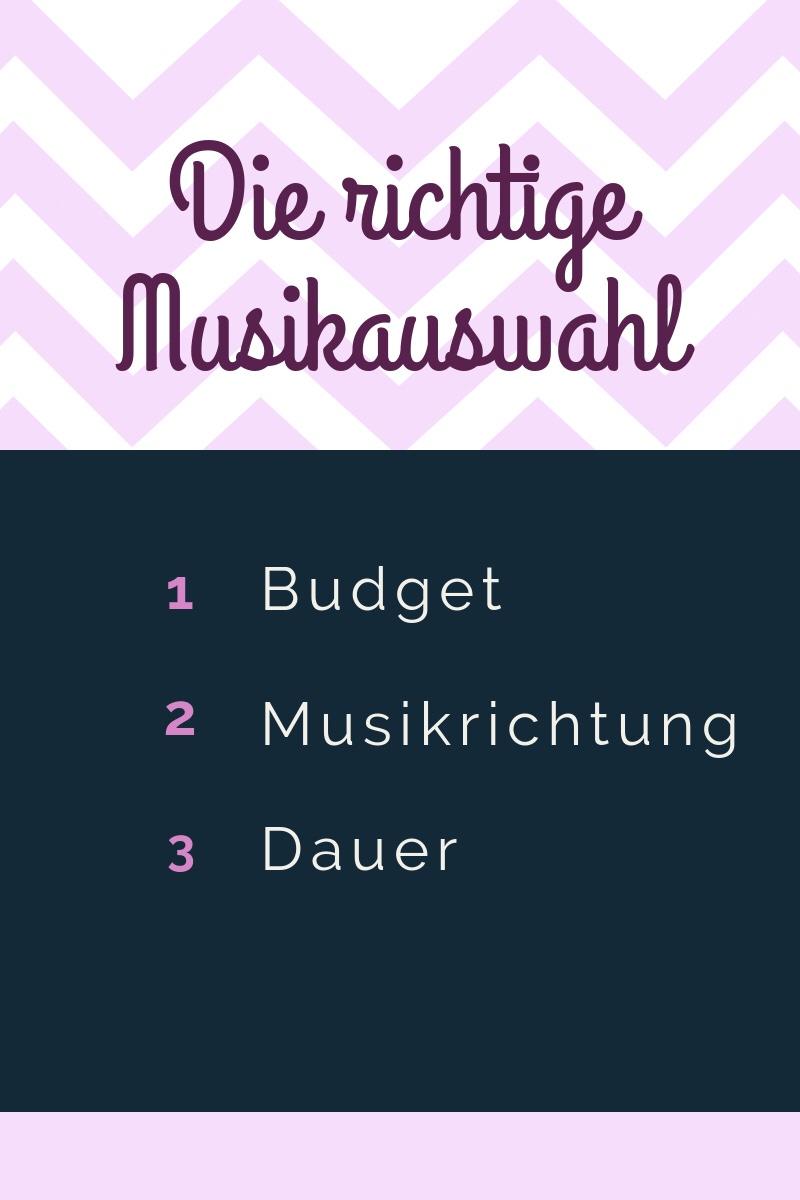 Checkliste Musik Hochzeit